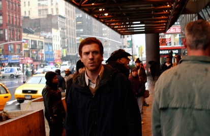 """Damian Lewis preparing on the set of """"Keane"""" (Photograph c 2004 Larry Riley)"""