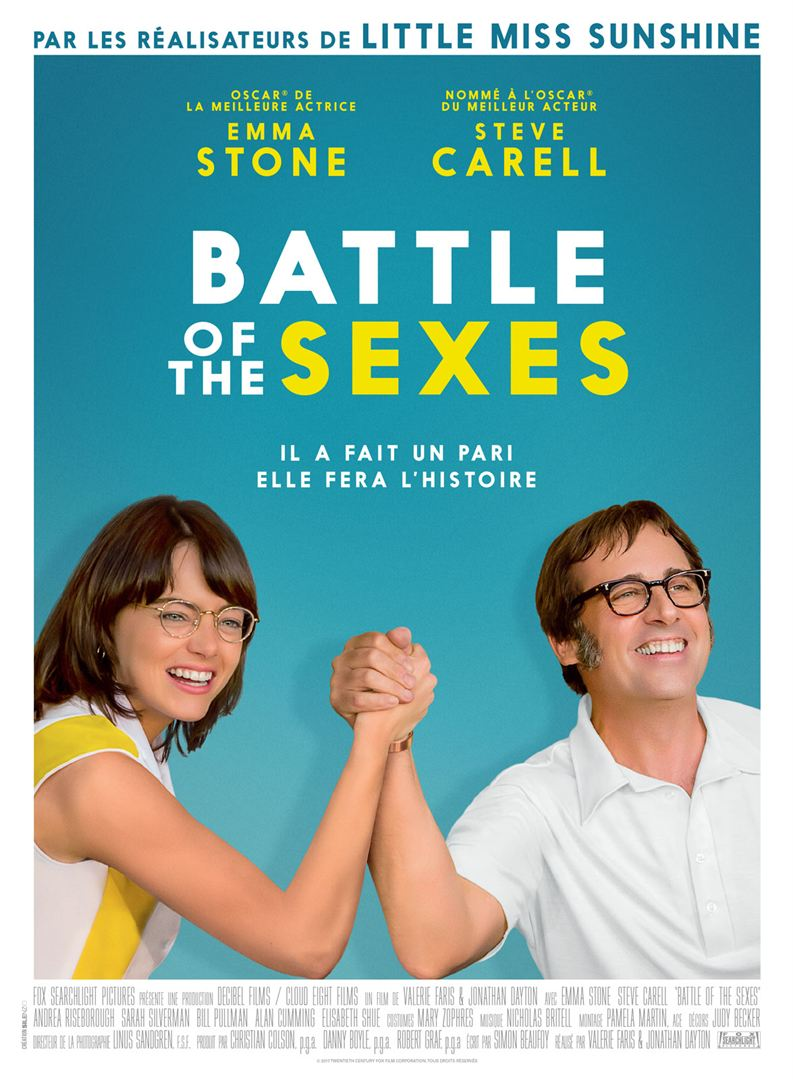 En bref : BATTLE OF THE SEXES de Jonathan Dayton et Valerie Faris